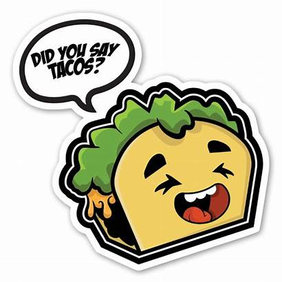 Tacos Tecknat Sticker Stickerapp