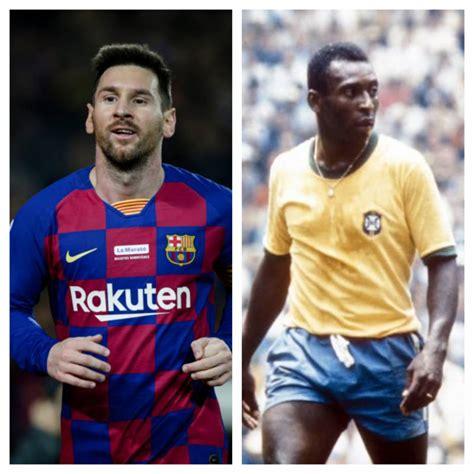 Messi equals Pele's record