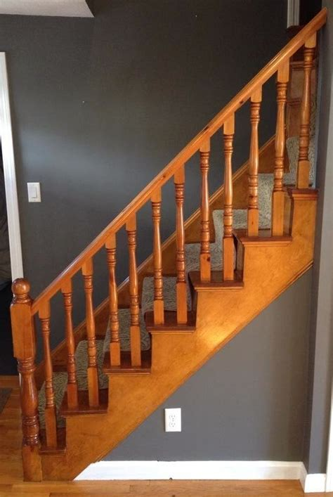 How To Refinish Stair Banister by How To Refinish A Staircase For 50 Frugalwoods
