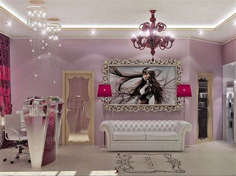interior design beauty salon burgundy couch sal 227 o de