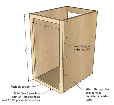 how to build kitchen base cabinets from scratch ana white build a 18 quot kitchen base cabinet trash pull
