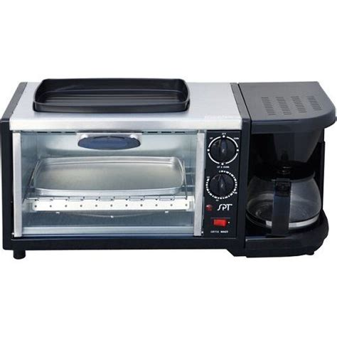 stainless breakfast kitchen toaster oven maker coffee station steel ovens space rv saver center appliance countertop machine appliances cup pan