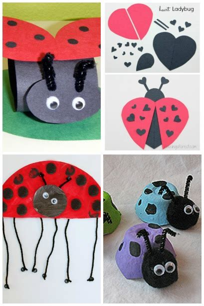 ladybug craft ideas housing a forest 564   15 Adorable Ladybug Crafts Spring Crafts for kids 2