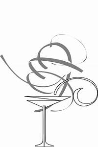 Black And White Martini Glass Clip Art at Clker.com ...