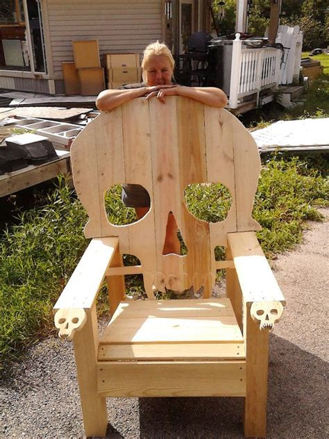 skull adirondack chair plans skull chair adirondack chair yard furniture solid wood