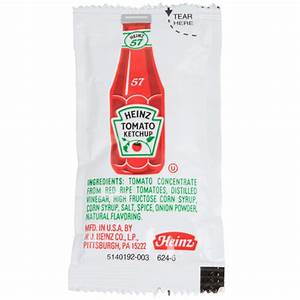 Heinz Ketchup 1000 9 Gram Portion Packets Case