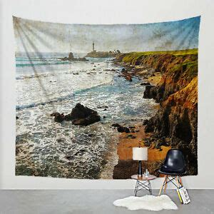 photo tapestry lighthouse california coast fabric art print wall hanging ebay