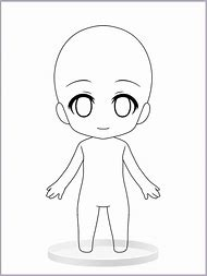 Anime Chibi Girl Base Template