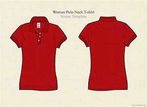 Woman Polo Neck T-shirt Vector ~ Illustrations on Creative ...