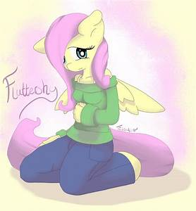 Fluttershy - Anthro by TesslaShy on DeviantArt