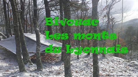 bivouac bushcraft hivernal dans les monts du lyonnais bbn