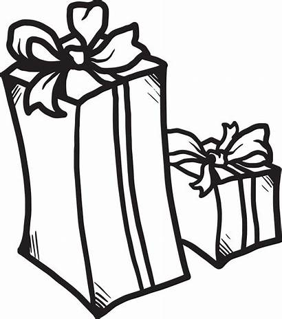 Coloring Presents Christmas Present Pages Printable Drawing