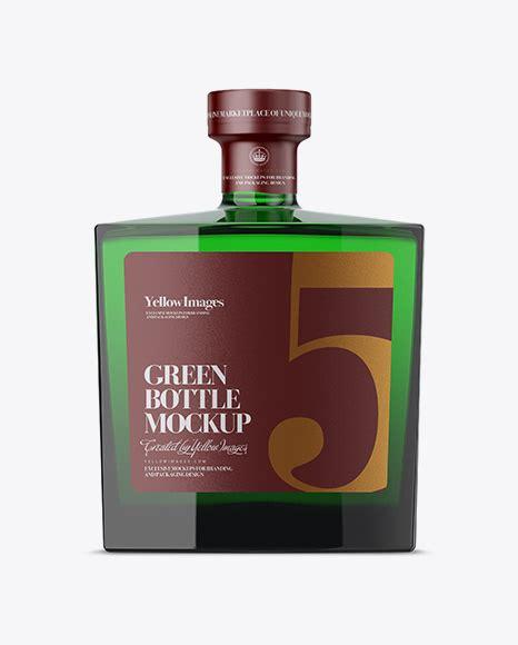 27/12/2019:antique green glass white wine bottle mockup 52028 tif. Square Glass Bottle withVodka Mockup - Green Glass Beer ...