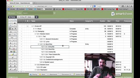 implementing  work breakdown structure  smartsheet