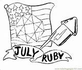 Ruby July Coloring Pages Flower Birthstone Coloringpages101 Flowers sketch template