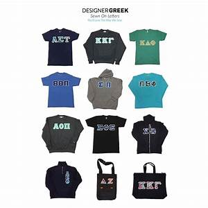 District ladies39 perfect blend tee sewn on letters for Sorority sewn on letters