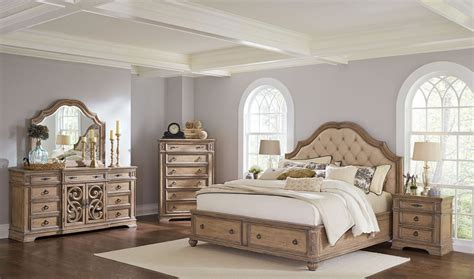 storage bedroom sets ilana antique linen panel storage bedroom set from coaster