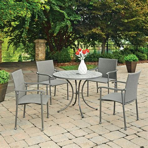 outdoor table ls umbria concrete tile 5 pc outdoor table 4 chairs
