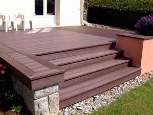 Plot Plastique Terrasse : terrasse en bois et plastique recycl ~ Edinachiropracticcenter.com Idées de Décoration