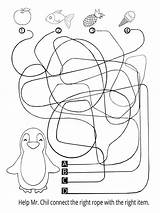 Penguin Coloring Fun Help Books Let Children Activities Mr Ropes Connect Right Literature Mrs sketch template