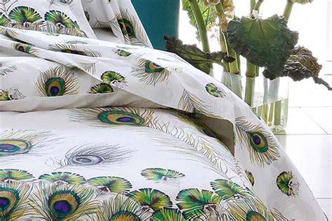 drap housse couette linge de lit peacock detradilinge chez literie a domicile