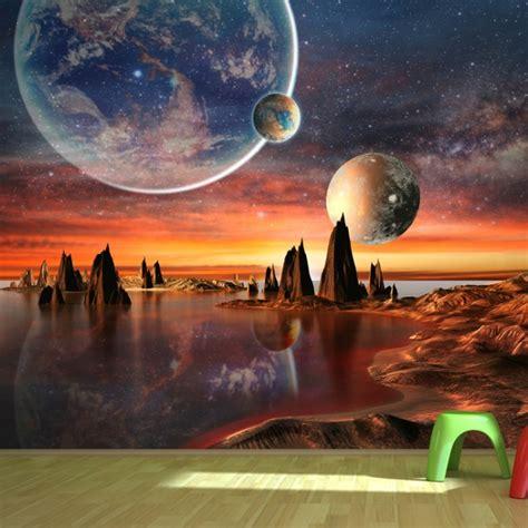 alien landscape wall mural wallpaper