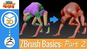 Zbrush Tutorial - Beginners Guide Part 2