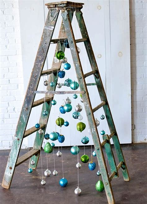 inspiration station fun  funky ladder christmas tree