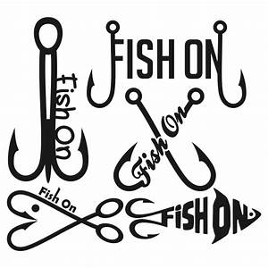 fish on fishing svg cuttable designs With fishing letter name art
