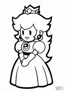 Paper Princess Peach coloring page | Free Printable ...
