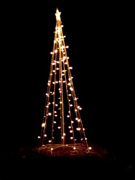 christmas lights shaped  tree holiday yard decoration