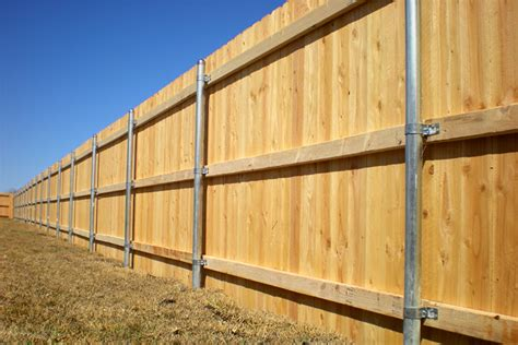 Wood Fence With Metal Post