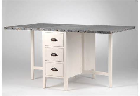 table de cuisine rabattable table allonge rabattable zinc amadeus amadeus 6926