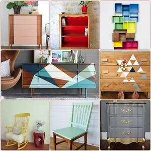 Alte Möbel Neu Streichen : alte m bel neu gestalten und auf eine tolle art und weise aufpeppen color blocking alte ~ Eleganceandgraceweddings.com Haus und Dekorationen