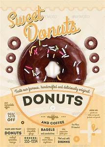 Donut Template Sweet Donuts Flyer And Menu Template By Thefaint