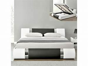 Lit Coffre 180x200 : lit adulte coffre design atlantic 180x200 conforama ~ Melissatoandfro.com Idées de Décoration