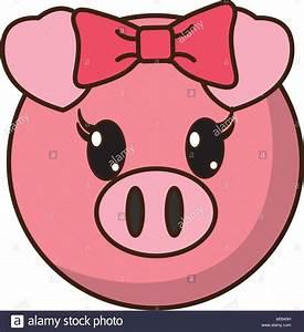 female pig head cute animal Stock Vector Art ...