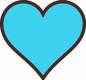 Blue And Brown Heart Clip Art At Clker Com
