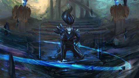 fantasy art league  legends yasuo league  legends
