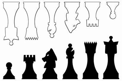 Chess Pieces Vector Printable Template Board Diy