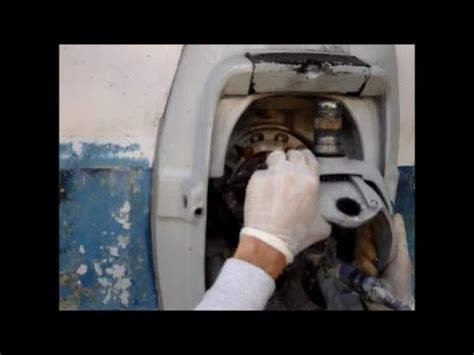 volvo penta  steering fork removal youtube