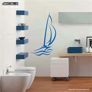 wall decals abstract sailboat large wall stickers by