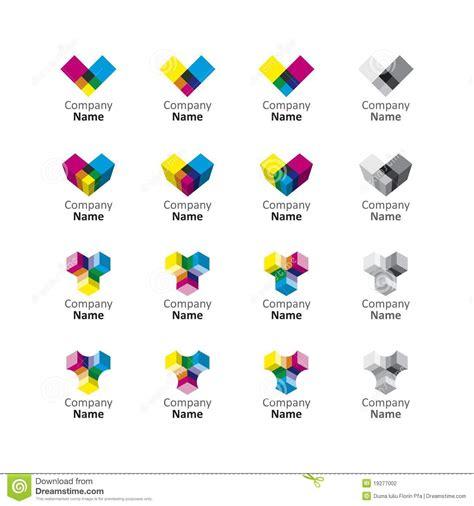Rainbow Logo Set Icon Stock Vector Illustration Of