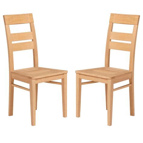 chaise de salle à manger en bois finition naturel paula