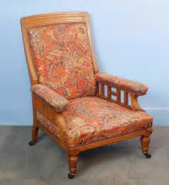 pair of upholstered fireside library chairs antiques atlas