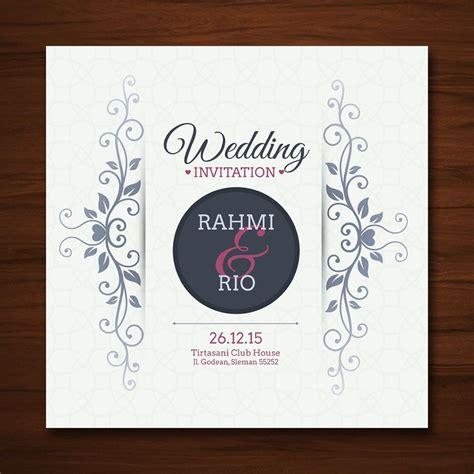 jual cetak kartu undangan pernikahan desain unik nuansa romantis harga murah soft