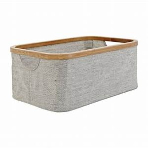 Panier Rangement Bébé Tissu : barnabe paniers linge et tendoirs gris tissu bois habitat ~ Dailycaller-alerts.com Idées de Décoration