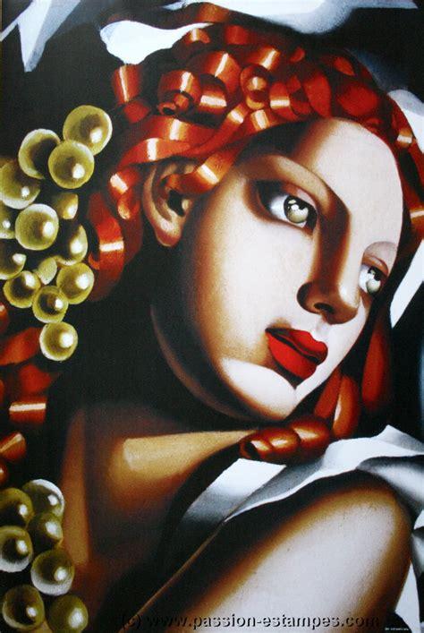 tamara de lempicka woman  green eyes reproduction