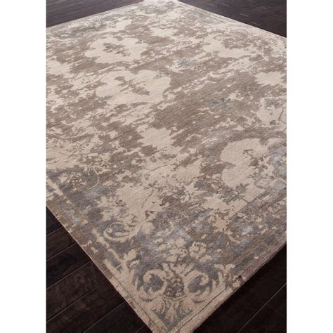 designer rug versailles taupe wool silk french style swanky interiors