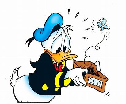 Duck Donald Schuldner Cartoon Leer Disney Comic